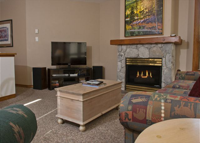 Whistler Aspens on Blackcomb Accommodation 252 Fireplace