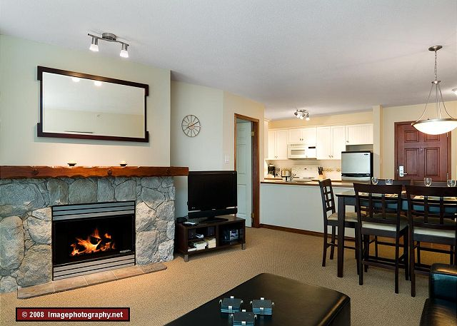 Whistler Aspens on Blackcomb Accommodation 549 Fireplace
