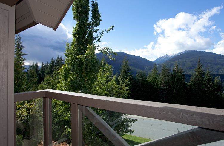 Whistler Painted Cliff Accommodation View from Deck