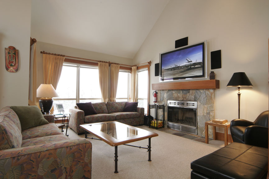 Painted Cliff in Whistler offers guests spacious ski in ski out accommodation.