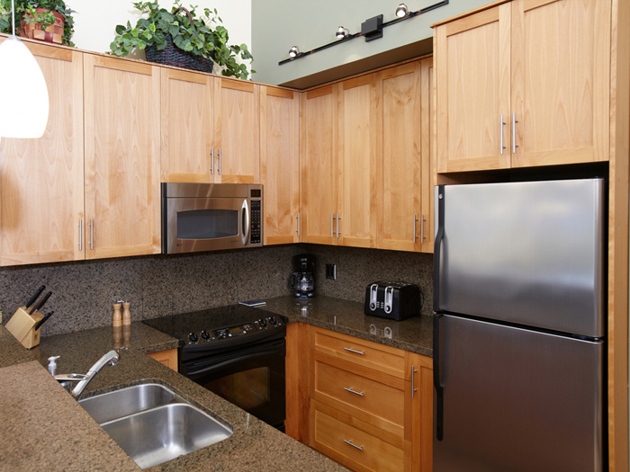 Enjoy the beautiful renovated kitchen in Painted Cliff 11.