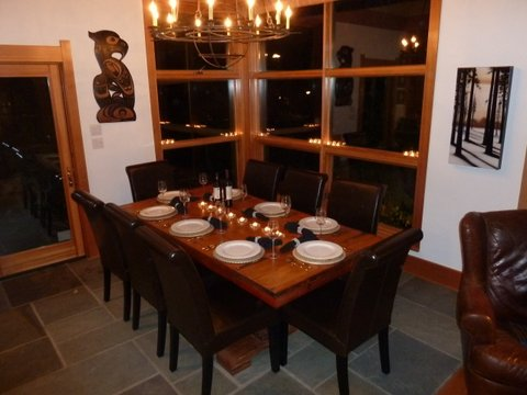 Whistler Ski In Ski Out Rental Home - Dining Room