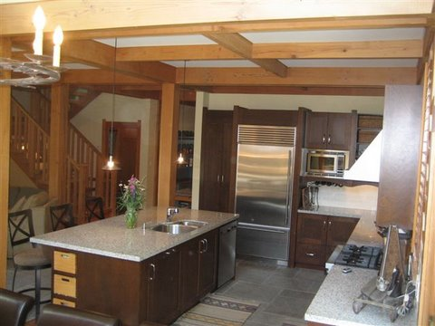 Whistler Ski In Ski Out Rental Home - Dining Kitchen
