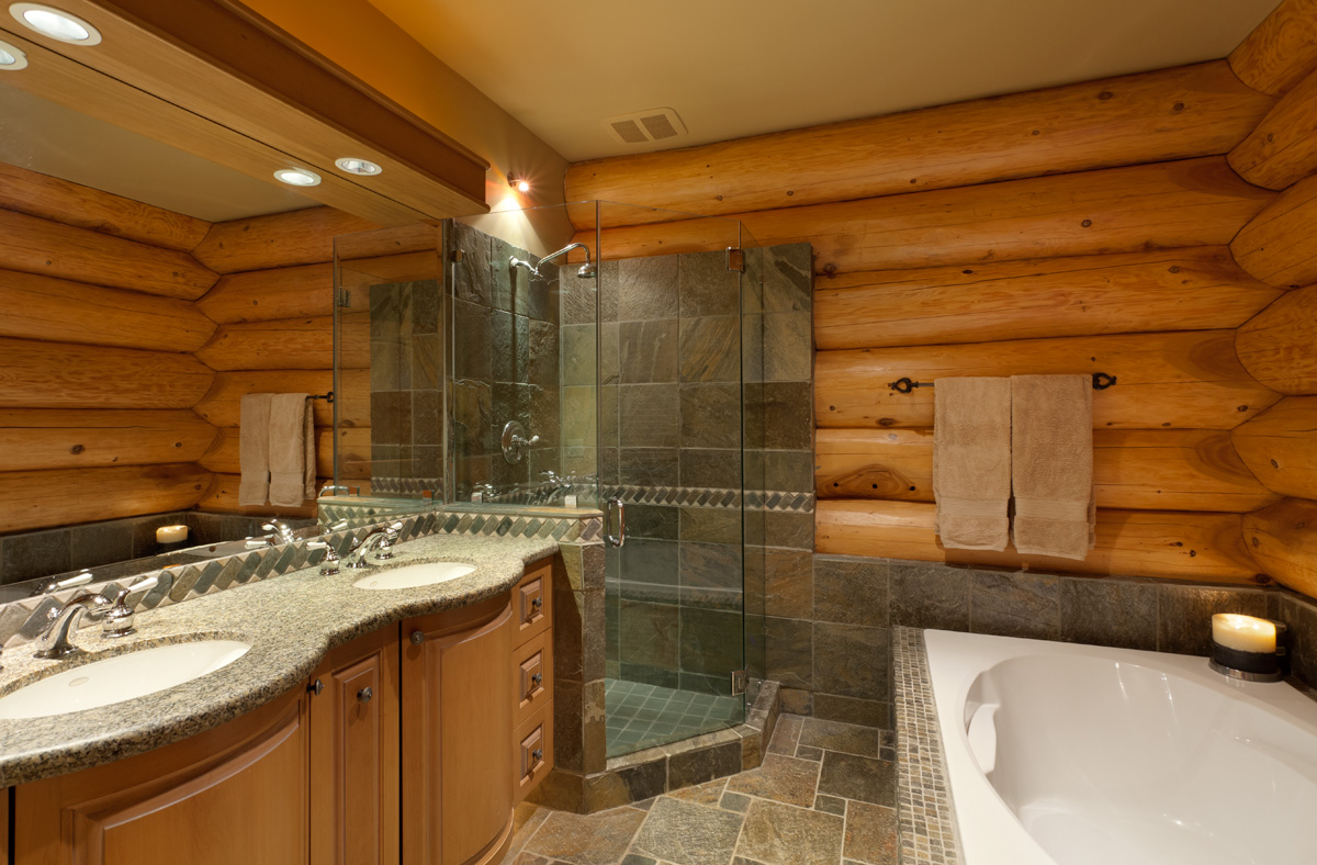 A luxury whistler log chalet 1 877 887 5422 for Bathroom ideas 9x9